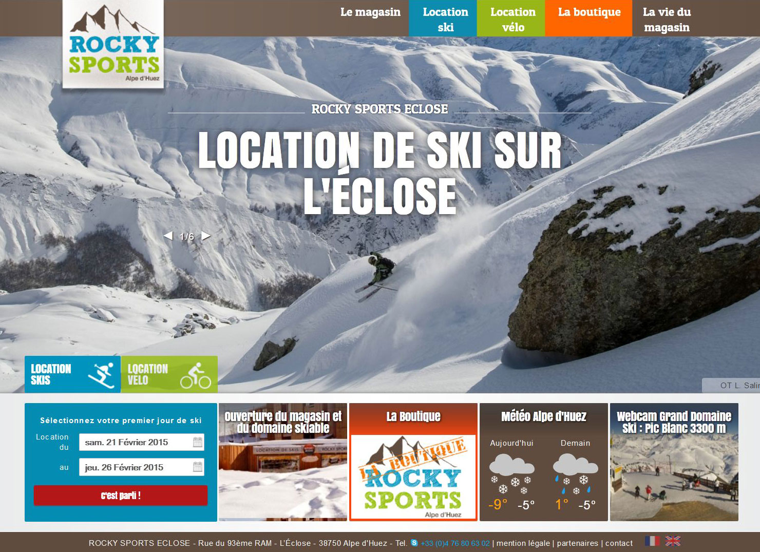 Site de location de ski Rocky Sports
