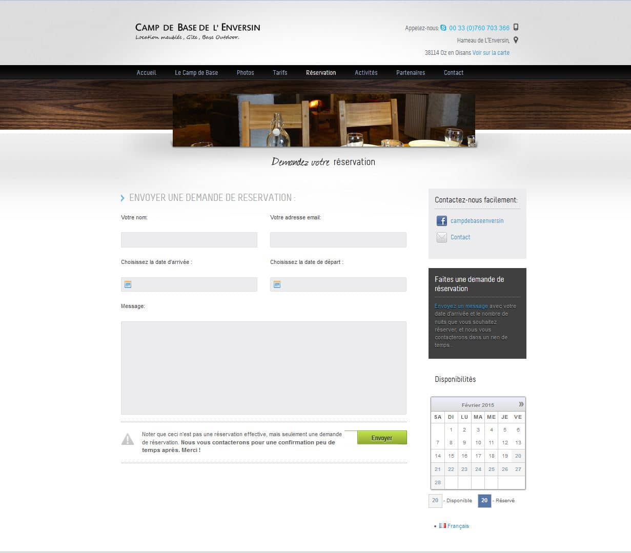 Cr ation de site internet wordpress prestashop location ski for Site de reservation