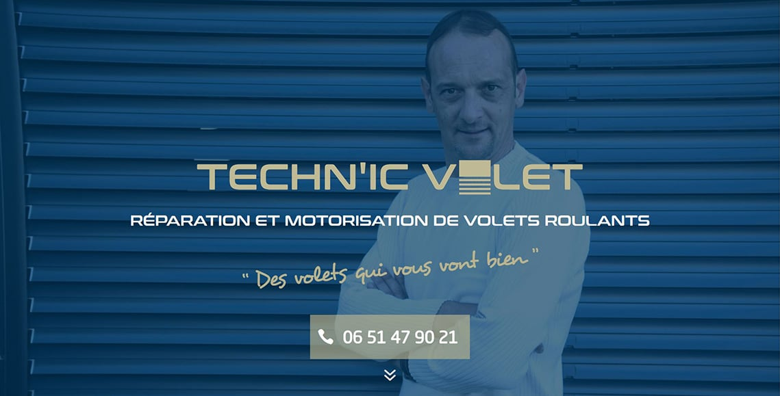 Site vitrine Techn'ic Volet