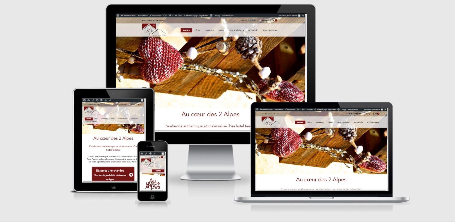 Site responsive Les Chalets de la Meije